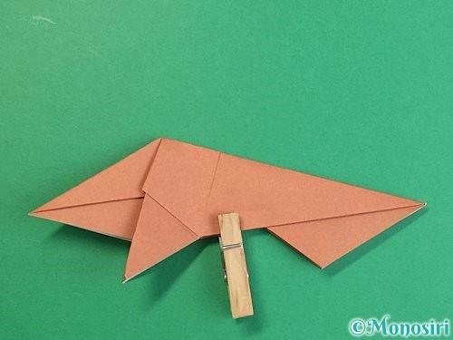 折り紙で立体的な猪の折り方手順37