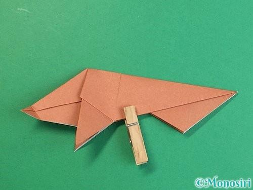 折り紙で立体的な猪の折り方手順39