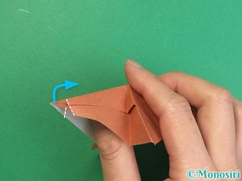折り紙で立体的な猪の折り方手順40