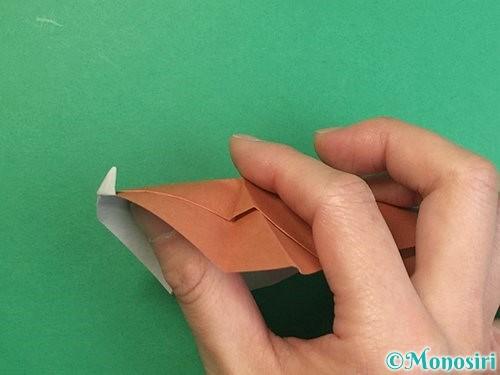 折り紙で立体的な猪の折り方手順41