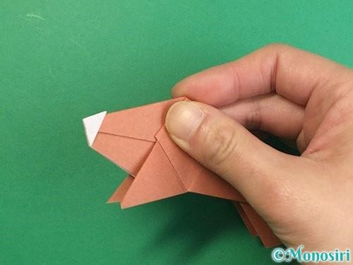 折り紙で立体的な猪の折り方手順42