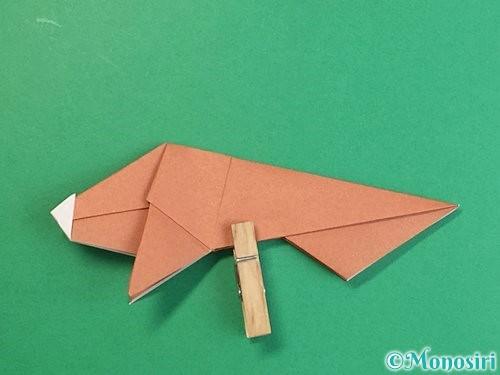 折り紙で立体的な猪の折り方手順43