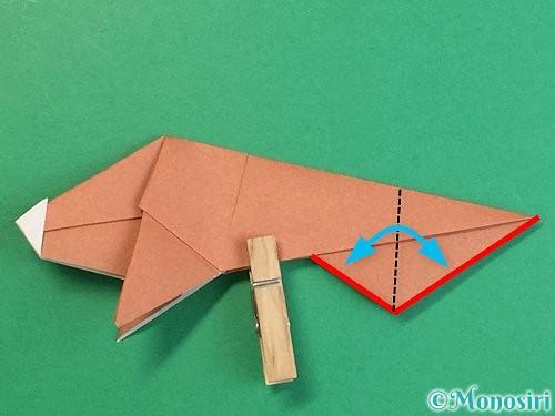 折り紙で立体的な猪の折り方手順44