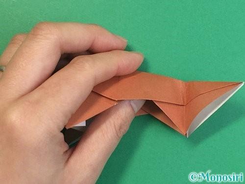 折り紙で立体的な猪の折り方手順46