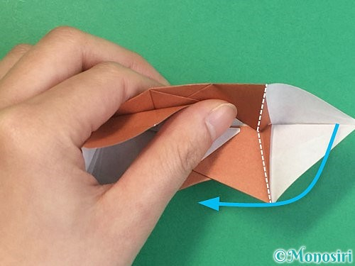 折り紙で立体的な猪の折り方手順47