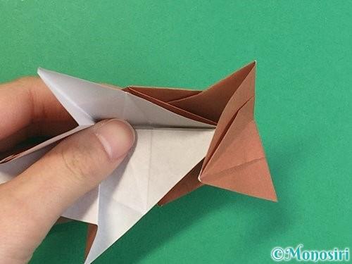 折り紙で立体的な猪の折り方手順48