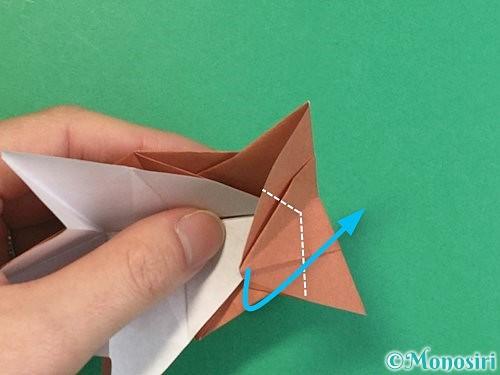 折り紙で立体的な猪の折り方手順49