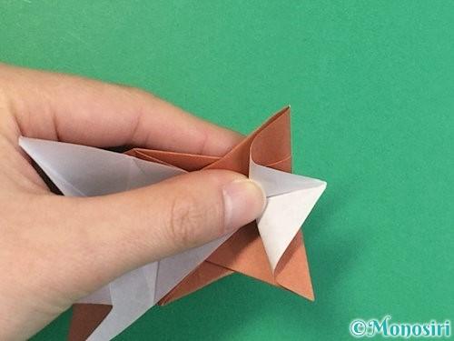 折り紙で立体的な猪の折り方手順50