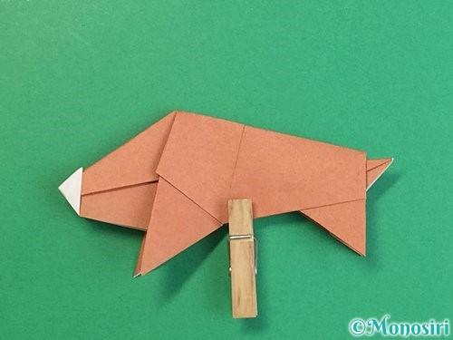 折り紙で立体的な猪の折り方手順51