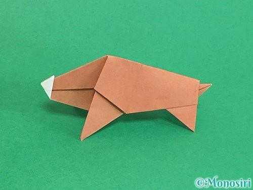 折り紙で立体的な猪の折り方手順52