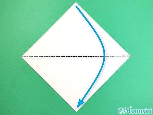 折り紙でキツネの折り方手順1