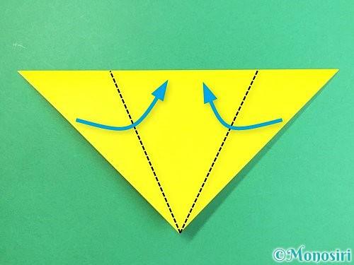 折り紙でキツネの折り方手順6