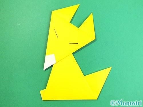 折り紙でキツネの折り方手順15