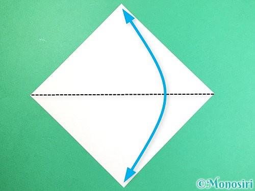 折り紙で立体的なキツネの折り方手順1