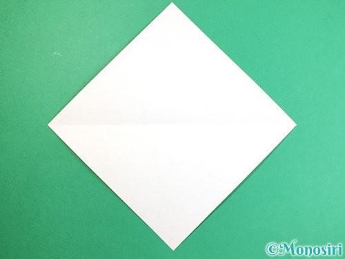 折り紙で立体的なキツネの折り方手順2