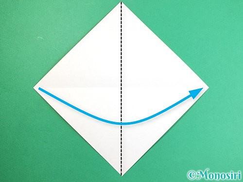 折り紙で立体的なキツネの折り方手順3