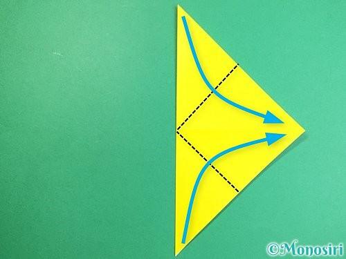 折り紙で立体的なキツネの折り方手順5