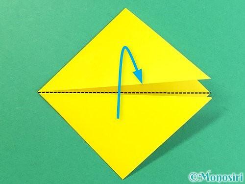 折り紙で立体的なキツネの折り方手順7