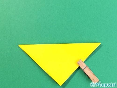 折り紙で立体的なキツネの折り方手順8