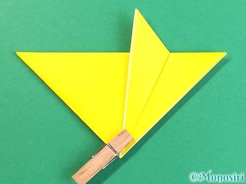 折り紙で立体的なキツネの折り方手順10