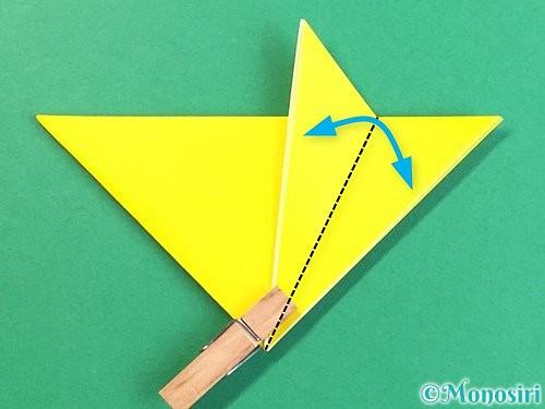 折り紙で立体的なキツネの折り方手順11