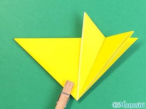 折り紙で立体的なキツネの折り方手順12