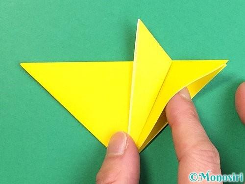 折り紙で立体的なキツネの折り方手順13