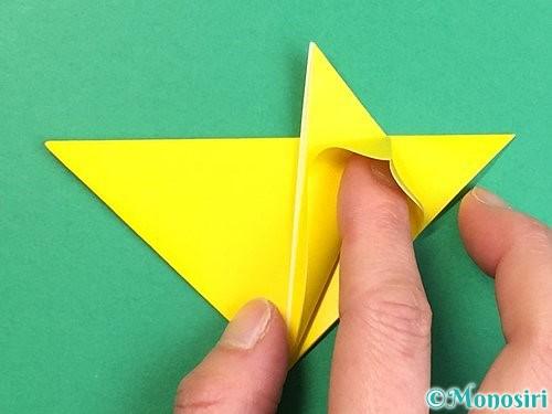 折り紙で立体的なキツネの折り方手順14