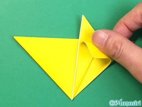 折り紙で立体的なキツネの折り方手順15