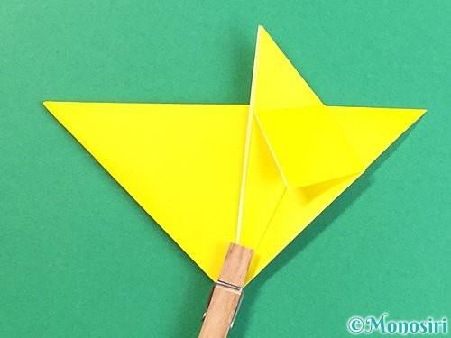 折り紙で立体的なキツネの折り方手順16