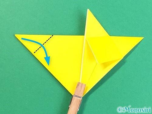 折り紙で立体的なキツネの折り方手順17