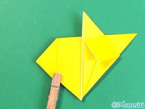 折り紙で立体的なキツネの折り方手順18
