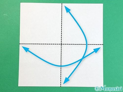 折り紙で立体的な豚の折り方手順1