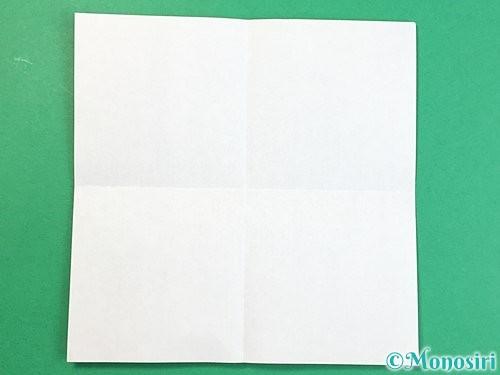 折り紙で立体的な豚の折り方手順2