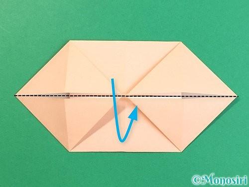 折り紙で立体的な豚の折り方手順11