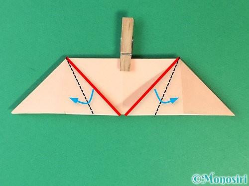 折り紙で立体的な豚の折り方手順13