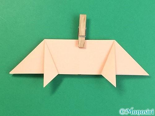 折り紙で立体的な豚の折り方手順14