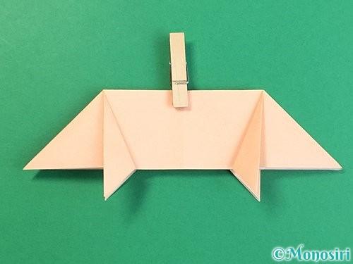 折り紙で立体的な豚の折り方手順15