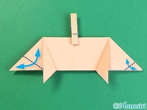 折り紙で立体的な豚の折り方手順16