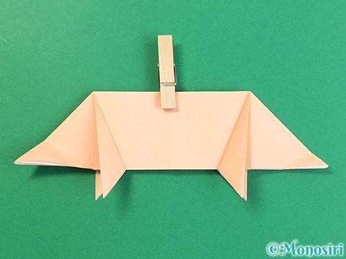折り紙で立体的な豚の折り方手順17