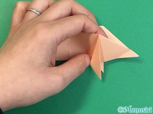 折り紙で立体的な豚の折り方手順18