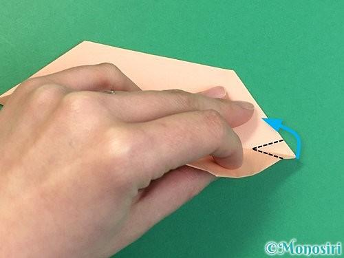 折り紙で立体的な豚の折り方手順19