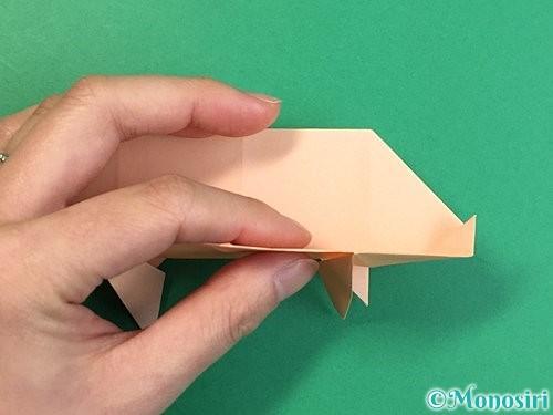 折り紙で立体的な豚の折り方手順20