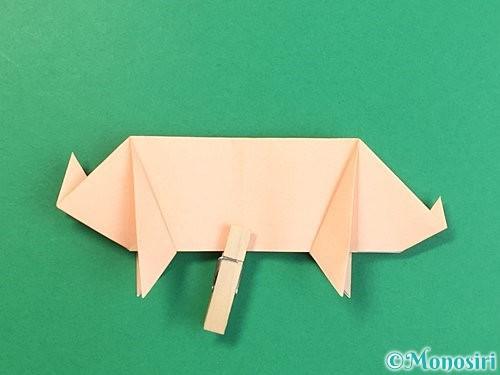 折り紙で立体的な豚の折り方手順22