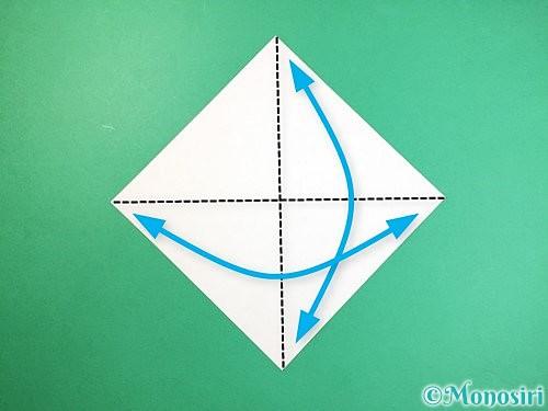 折り紙で立体的なキリンの折り方手順1