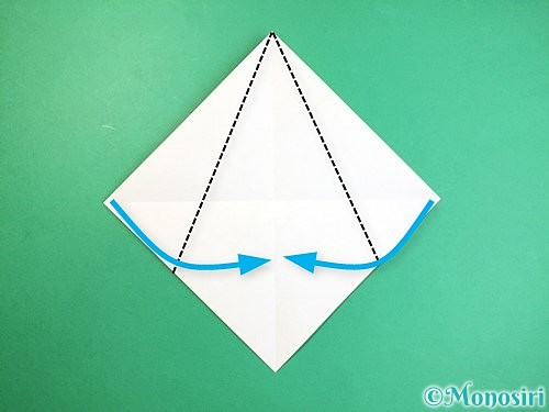 折り紙で立体的なキリンの折り方手順3