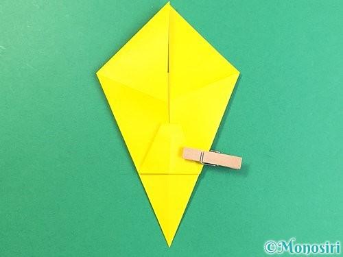 折り紙で立体的なキリンの折り方手順16