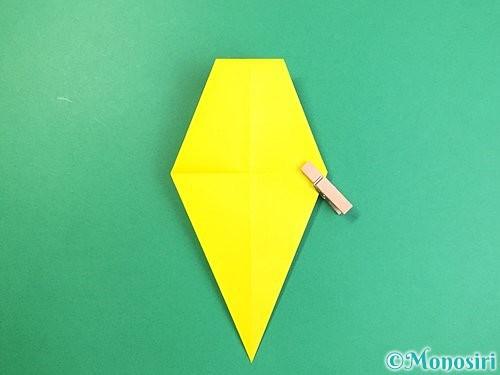 折り紙で立体的なキリンの折り方手順18