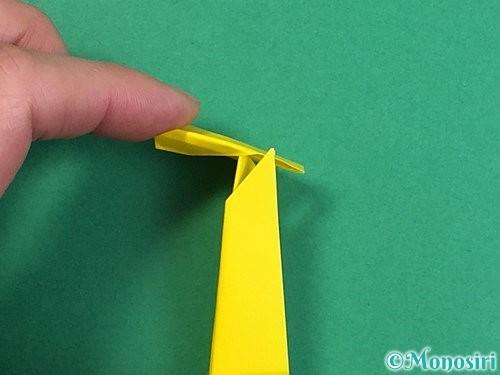 折り紙で立体的なキリンの折り方手順30