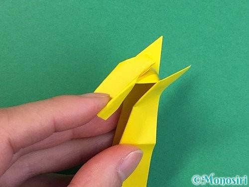 折り紙で立体的なキリンの折り方手順33